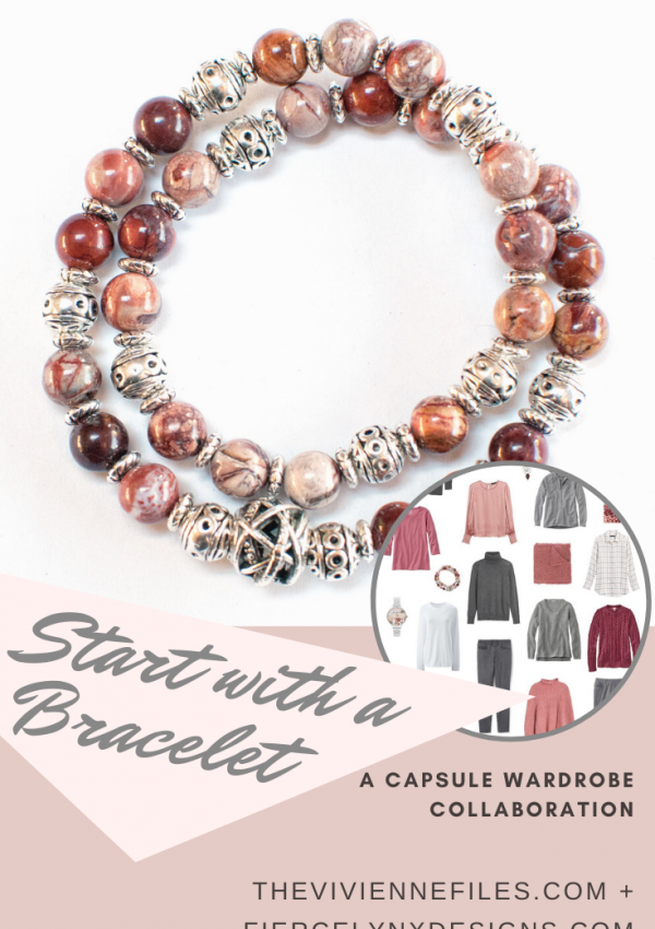 how to build a capsule wardrobe starting with a bracelet. November collaboration with Fierce Lynx Designs.