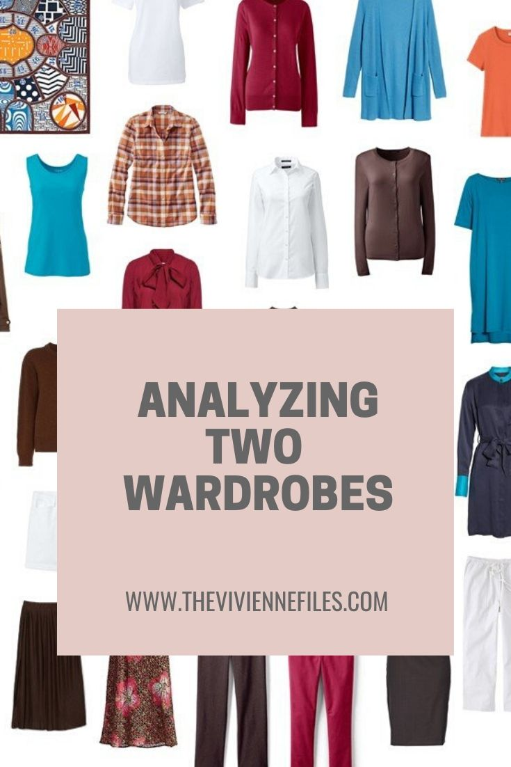 ANALYZING 2 WARDROBES: WHEN YOUR COLOR PALETTE IS CHALLENGING