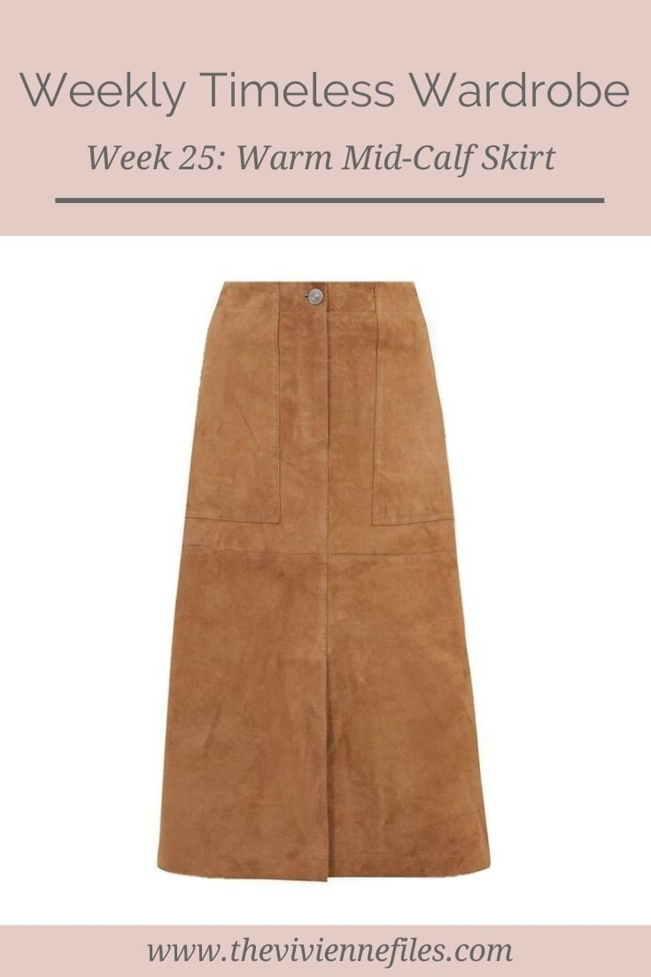THE WEEKLY TIMELESS WARDROBE, WEEK 25: A WARM MID-CALF SKIRT