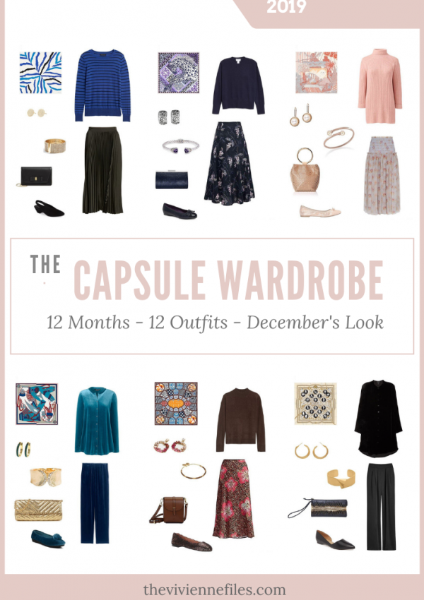 How to build a capsule wardrobe by starting with a scarf - December's Look