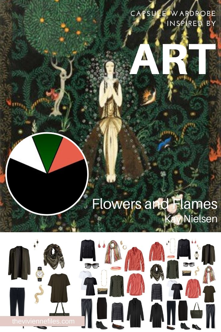 CREATE A TRAVEL CAPSULE WARDROBE INSPIRED BY ART: FLOWERS AND FLAMES BY KAY NIELSEN