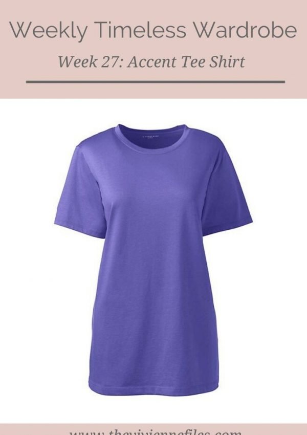 THE WEEKLY TIMELESS WARDROBE, WEEK 27: AN ACCENT TEE SHIRT