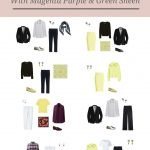ACCENT A BLACK AND WHITE WARDROBE WITH MAGENTA PURPLE AND GREEN SHEEN