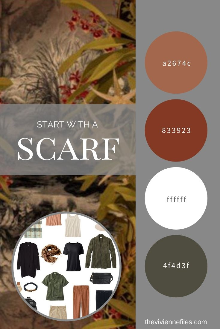 START WITH A SCARF_ BUILDING A TRAVEL CAPSULE WARDROBE STARTING WITH THE CLOUD RAINFOREST SCARF FROM KLEMENTS