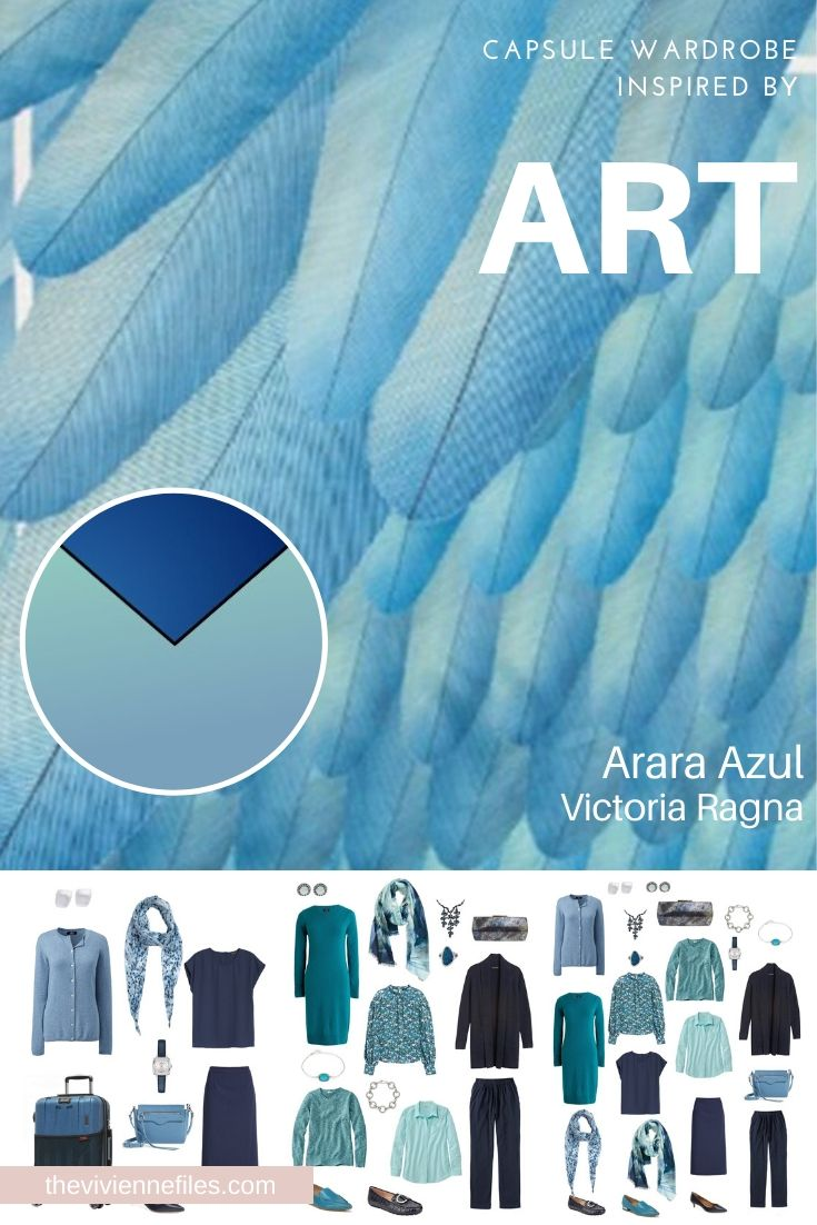 START WITH ART: BUILD A TRAVEL CAPSULE WARDROBE BASED ON ARARA AZUL BY VICTORIA RAGNA