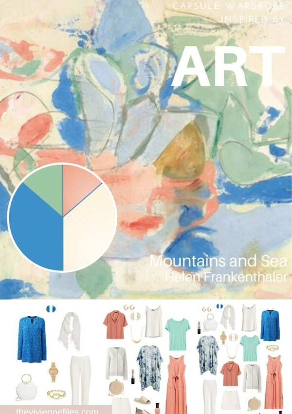 START WITH ART: BUILDING A TRAVEL CAPSULE WARDROBE BASED ON MOUNTAINS AND SEA BY HELEN FRANKENTHALER