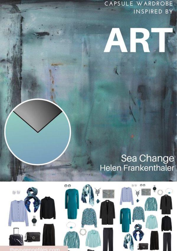 START WITH ART: BUILDING A TRAVEL CAPSULE WARDROBE BASED ON SEA CHANGE BY HELEN FRANKENTHALER