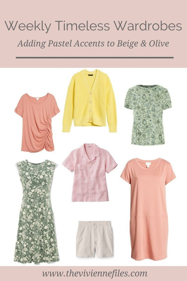 ADDING PASTEL WARDROBE ACCENTS! EXPANDING A BEIGE & OLIVE WEEKLY TIMELESS WARDROBE