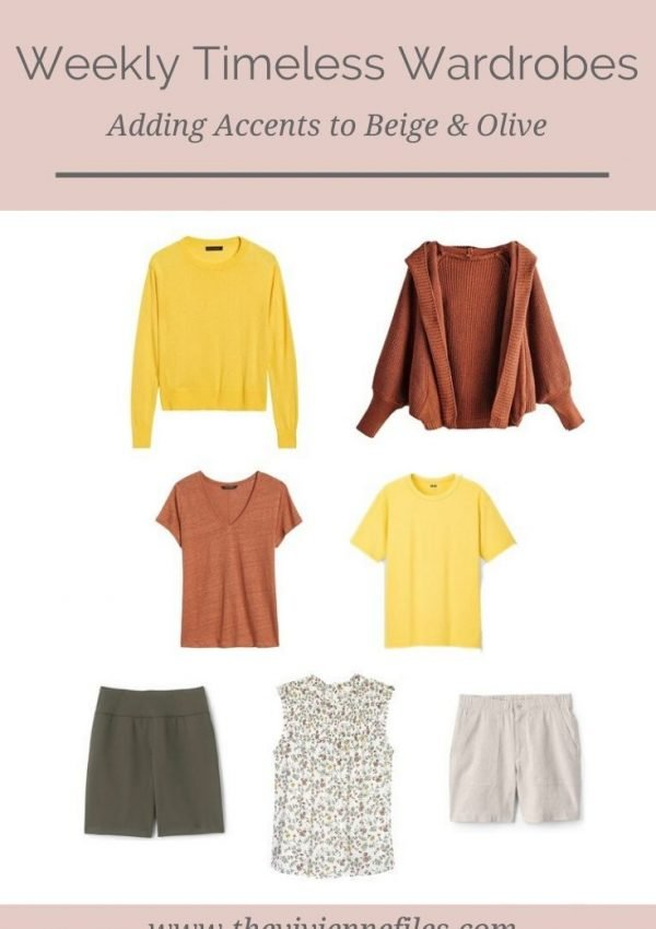 ADDING WARDROBE ACCENTS! EXPANDING A BEIGE & OLIVE WEEKLY TIMELESS WARDROBE