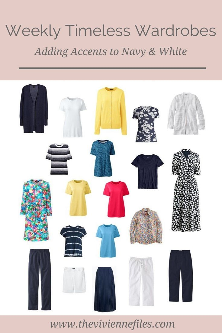 ADDING WARDROBE ACCENTS! EXPANDING A NAVY & WHITE WEEKLY TIMELESS WARDROBE