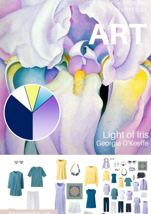 BUILDING A TRAVEL CAPSULE WARDROBE - EXPANDING A START WITH ART: LIGHT OF IRIS BY GEORGIA O'KEEFFE