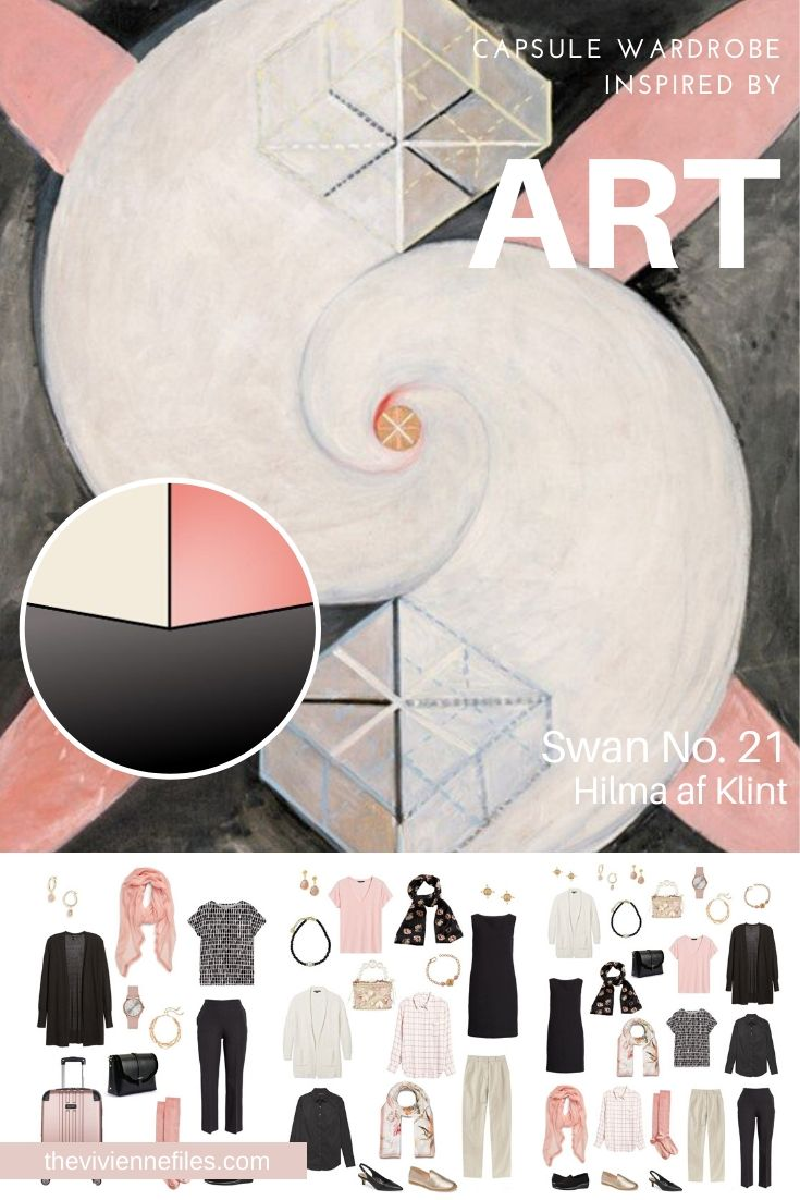 START WITH ART_ BUILDING A TRAVEL CAPSULE WARDROBE BASED ON THE SWAN NO. 21 BY HILMA AF KLINT