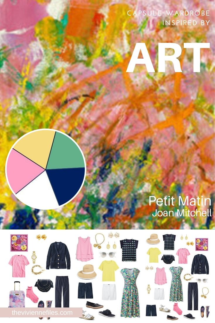 START WITH ART: CHOOSING A TRAVEL CAPSULE WARDROBE BASED ON PETIT MATIN BY JOAN MITCHELL