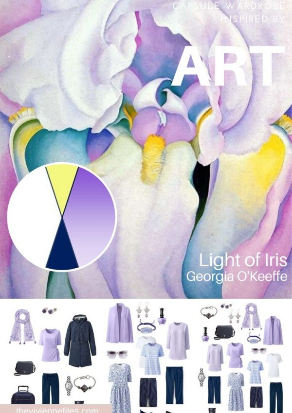 START WITH ART: LIGHT OF IRIS BY GEORGIA O'KEEFFE INSPIRES A TRAVEL CAPSULE WARDROBE