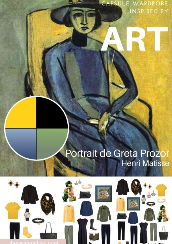 START WITH ART: BUILDING A TRAVEL CAPSULE WARDROBE BASED ON PORTRAIT DE GRETA PROZOR BY HENRI MATISSE