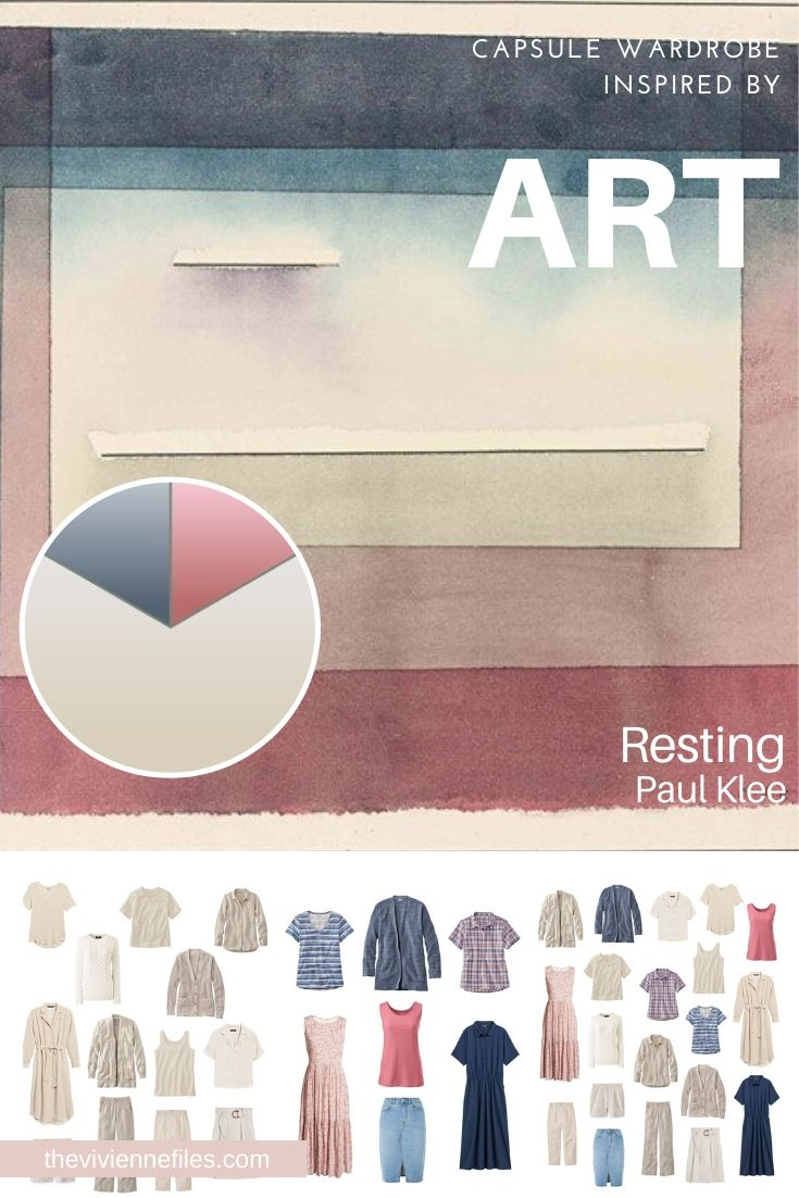 START WITH ART: RESTING BY PAUL KLEE, AND A BEIGE WEEKLY TIMELESS WARDROBE FOR SPRING