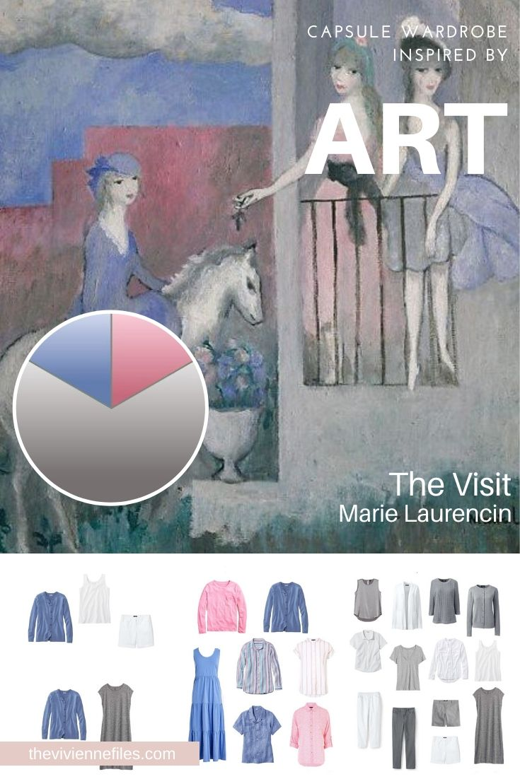 START WITH ART: THE VISIT BY MARIE LAURENCIN – GREY AND WHITE AND RELAXING…