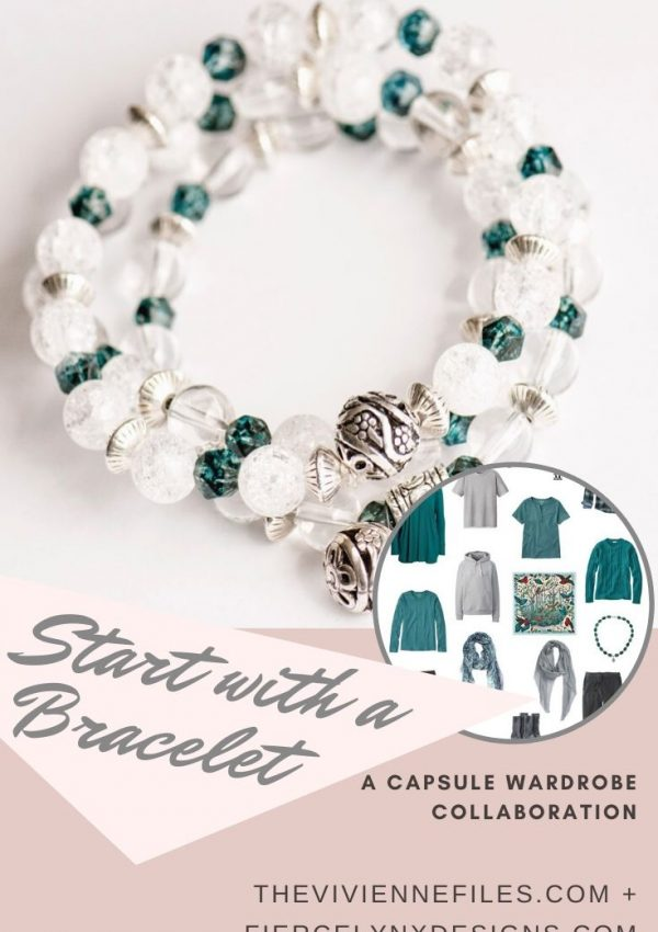 how to build a capsule wardrobe starting with an April birthstone bracelet