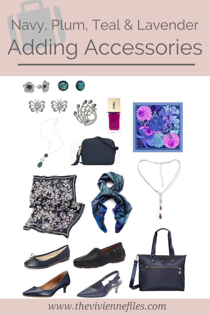 ADDING ACCESSORIES_ A WORK WARDROBE IN NAVY, PLUM, TEAL AND LAVENDER