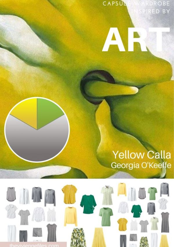 Start with art - A travel capsule wardrope inspired by Yello Calla - Georgia O'Keeffe