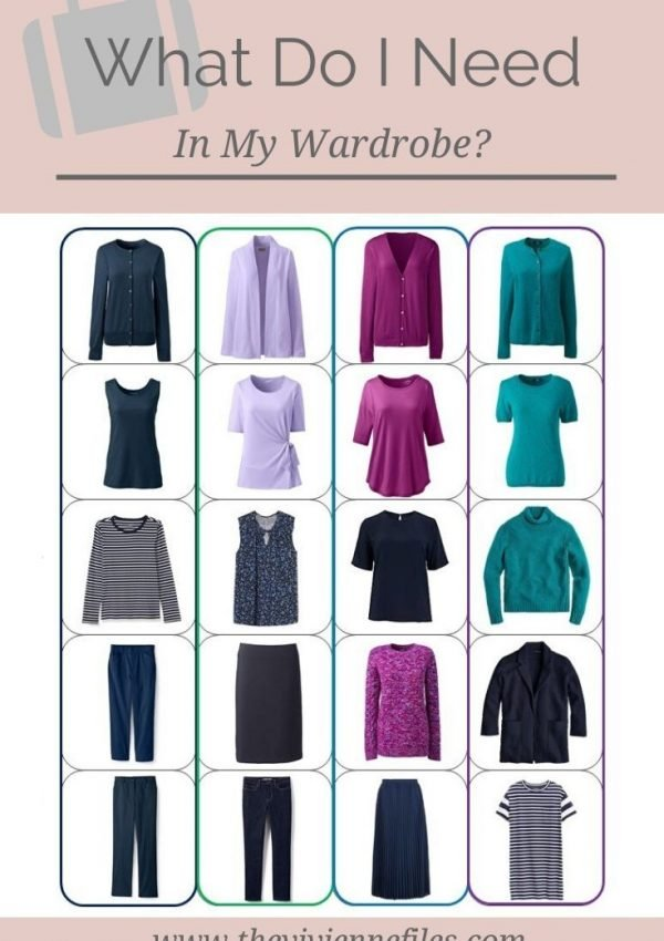 WHAT DO I NEED IN MY WARDROBE? NAVY, TEAL, PLUM AND LAVENDER