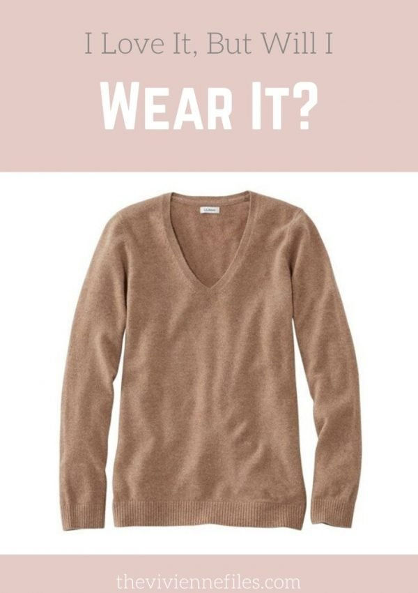 I LOVE IT, BUT WILL I WEAR IT? A BROWN CASHMERE SWEATER