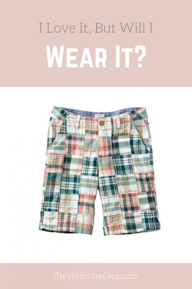 will I wear patchwork shorts in my capsule wardrobe