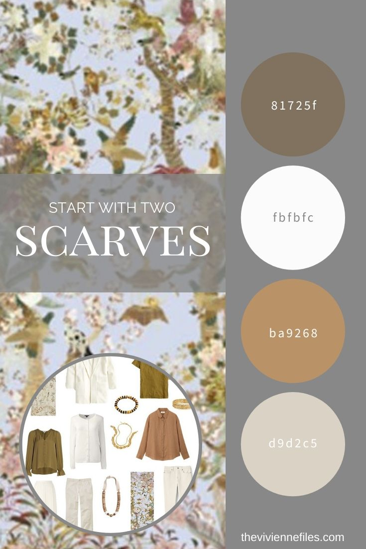 START WITH 2 SCARVES_ A CAMEL AND OLIVE GREEN ACCENTED TRAVEL CAPSULE WARDROBE