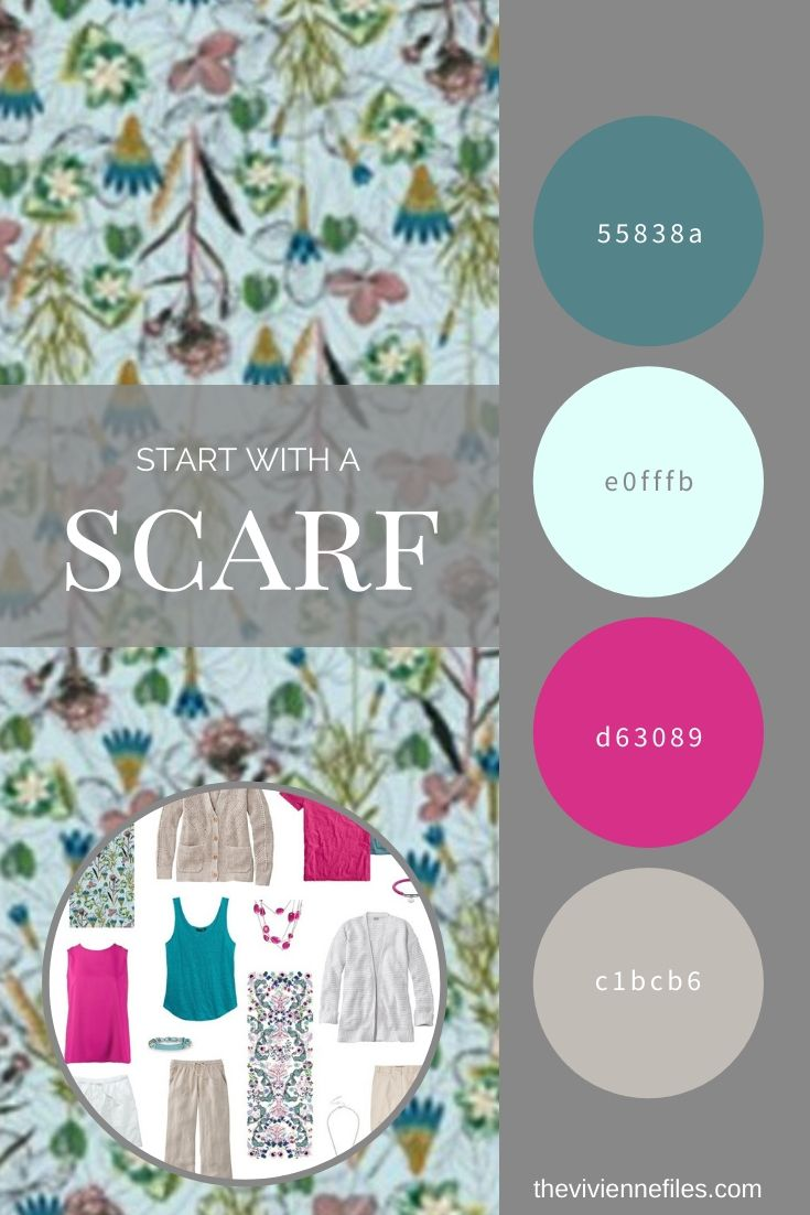 START WITH 2 SCARVES_ A TEAL AND HOT PINK ACCENTED TRAVEL CAPSULE WARDROBE
