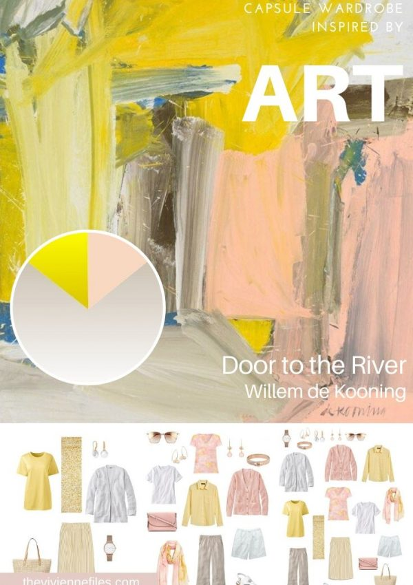 START WITH ART: BUILDING A TRAVEL CAPSULE WARDROBE BASED ON DOOR TO THE RIVER BY WILLEM DE KOONING
