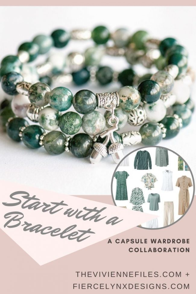 how to build a capsule wardrobe starting with a May birthstone bracelet