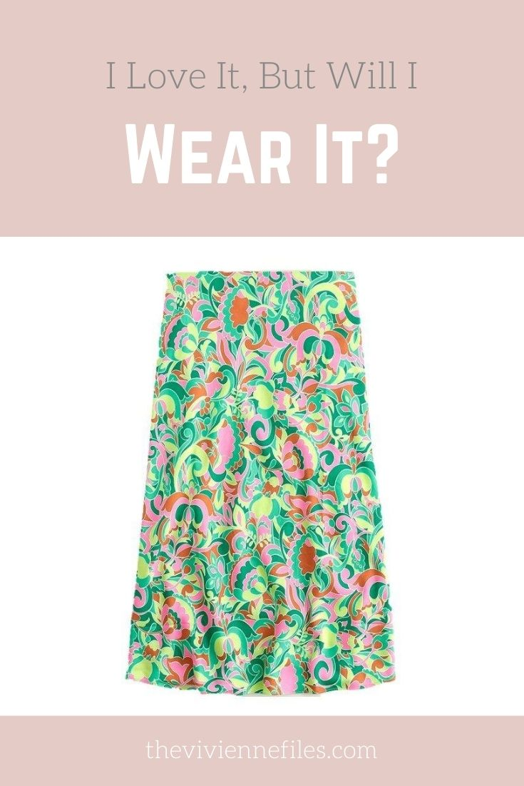 I LOVE IT, BUT WILL I WEAR IT? PAISLEY SKIRT