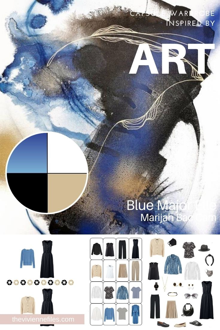 STRATEGICALLY EXPANDING A CAPSULE WARDROBE: START WITH ART – BLUE MAJOR ELLE BY MARIJAH BAC CAM