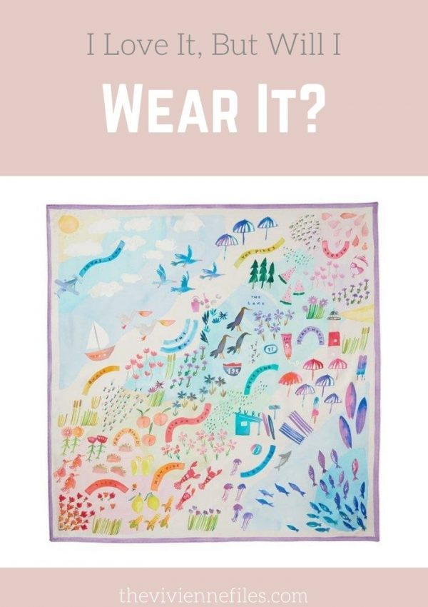 I LOVE IT, BUT WILL I WEAR IT? BEACH ROADTRIP SILK SCARF BY KATE SPADE NEW YORK