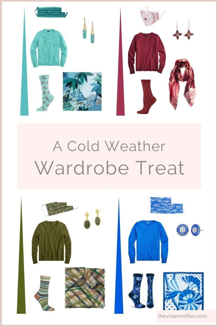 IS IT TIME FOR A COLD WEATHER WARDROBE TREAT? A WHOLE RAINBOW OF CASHMERE SWEATERS…