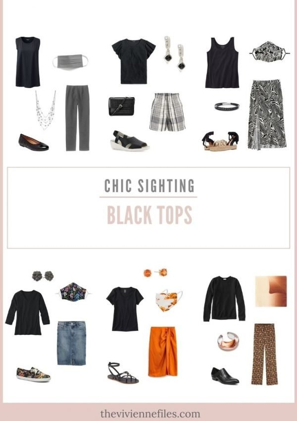 CHIC SIGHTINGS_ BLACK TOPS!