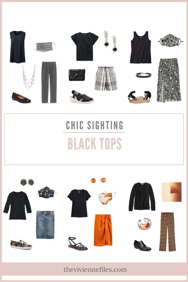CHIC SIGHTINGS_ BLACK TOPS!
