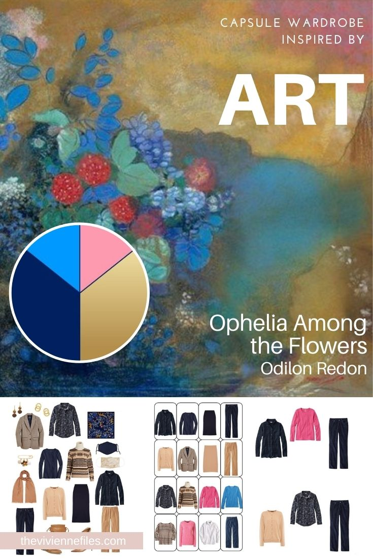 START WITH ART: EXPANDING ON A WARDROBE BASED ON OPHELIA AMONG THE FLOWERS BY ODILON REDON