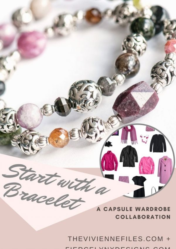 how to build a capsule wardrobe starting with a Tourmaline birthstone bracelet
