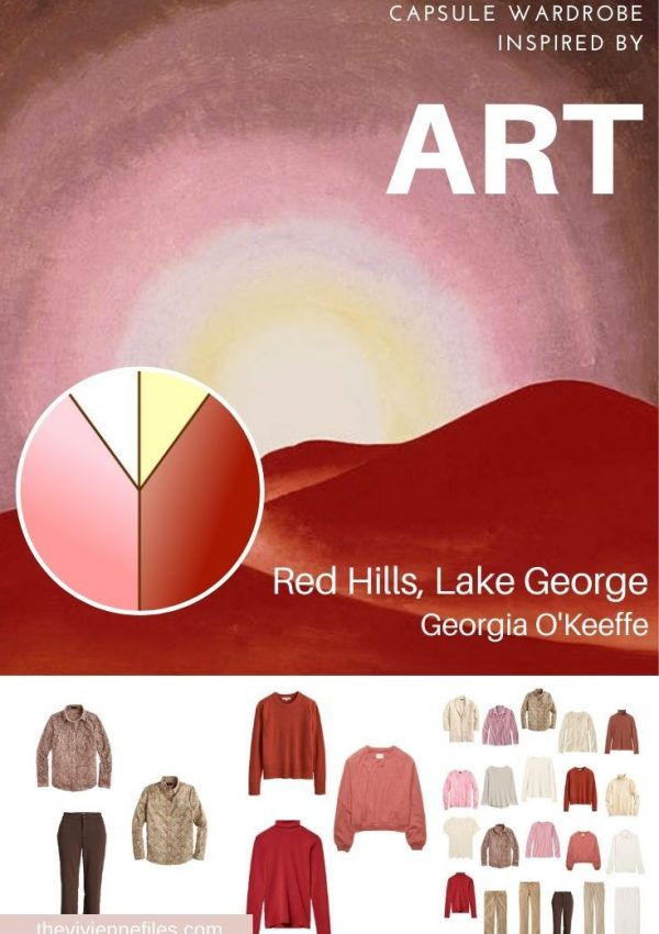 CAN A GARDE-ROBE DU MOIS INCLUDE RED AND PINK? START WITH ART: RED HILLS, LAKE GEORGE BY GEORGIA O'KEEFFE