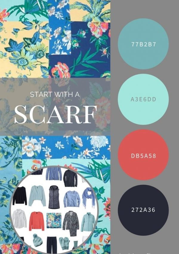 START WITH A SCARF_ ECHO PATCHWORK PAINTED FLORAL SILK SQUARE