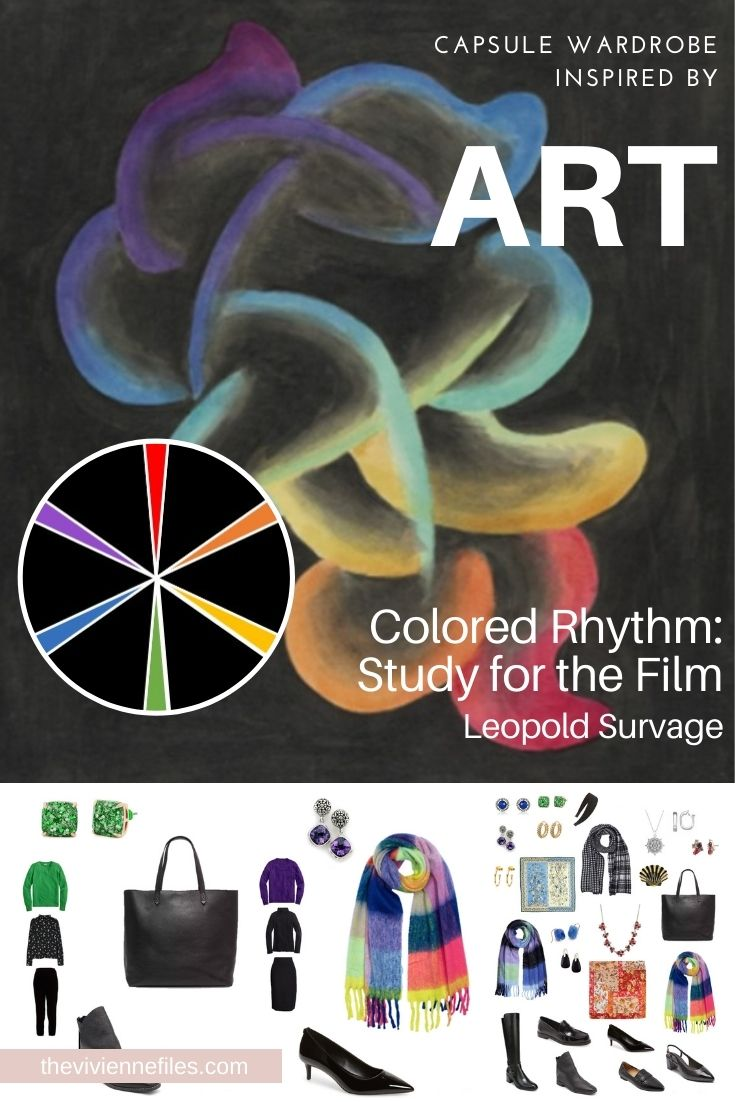 START WITH ART: ADDING ACCESSORIES – COLORED RHYTHM: STUDY FOR THE FILM BY LEOPOLD SURVAGE