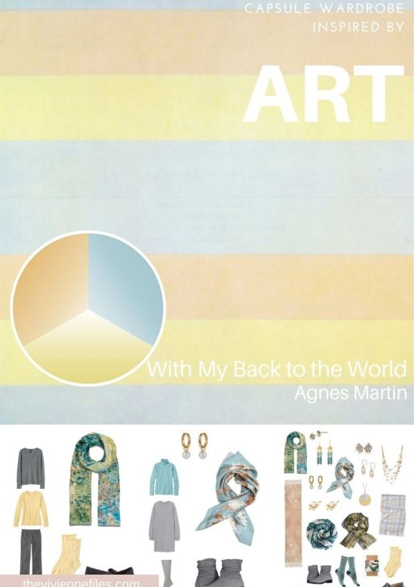 START WITH ART: ADDING ACCESSORIES – WITH MY BACK TO THE WORLD BY AGNES MARTIN