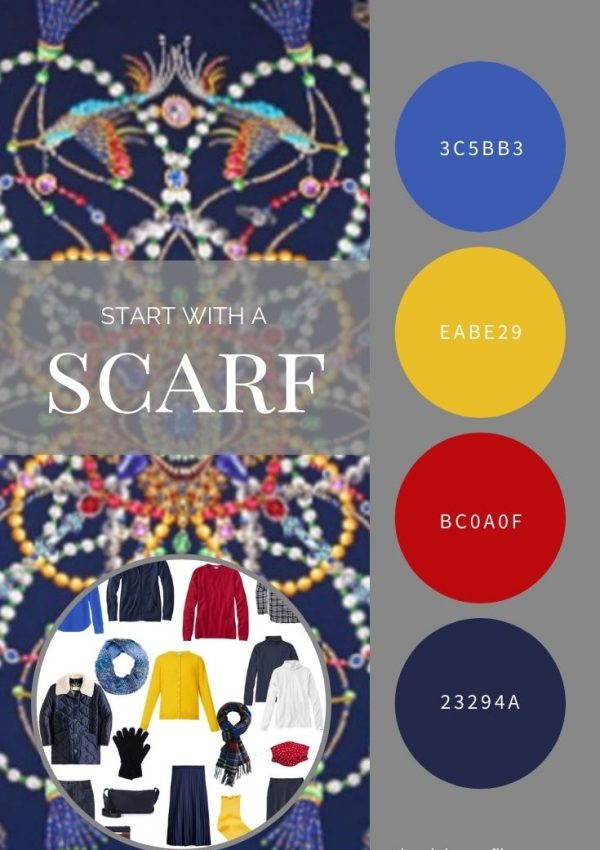 START WITH A SCARF - NAVY HEIRLOOM SERIES SCARF BY ECHO