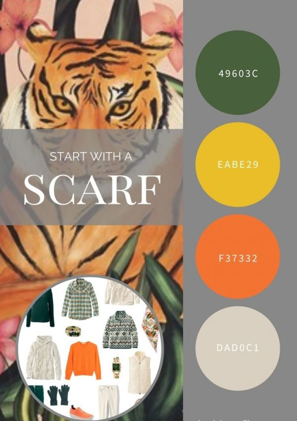 START WITH A SCARF_ TIGER IN THE GRASS BY ECHO