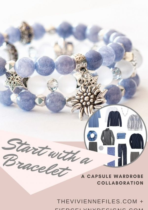 how to build a capsule wardrobe starting with a December birthstone bracelet