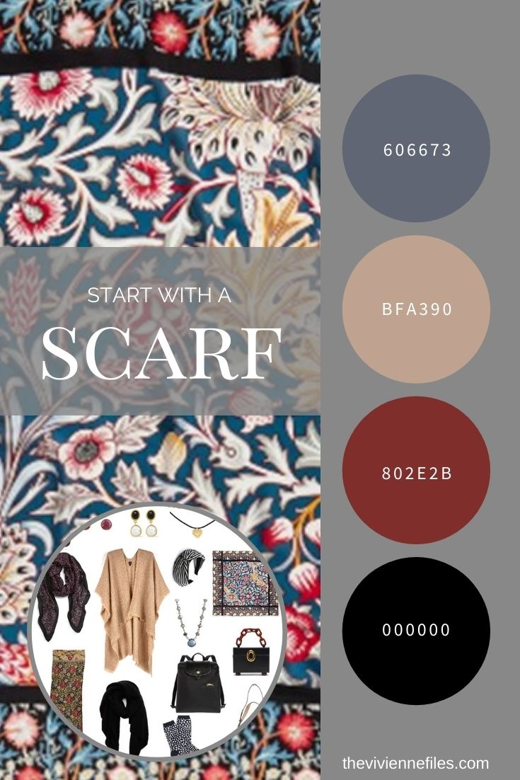 ACCESSORIES! A GARDE-ROBE DU MOIS BASED ON A WILLIAM MORRIS SCARF…