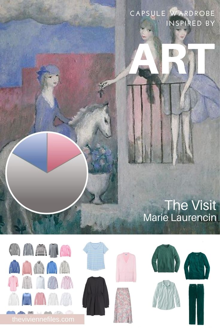 INTRODUCING A NEW ACCENT COLOR INTO AN ESTABLISHED WARDROBE – THE VISIT BY MARIE LAURENCIN