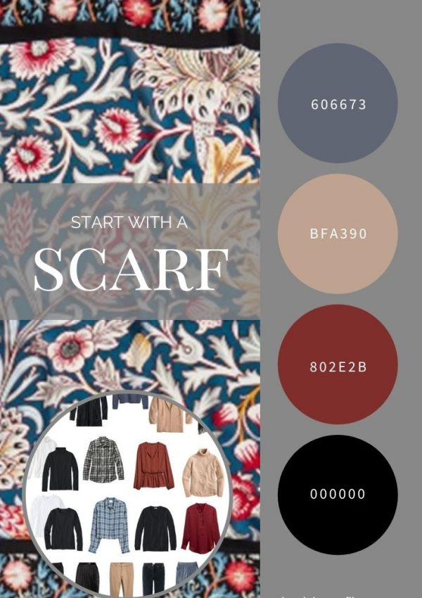 START WITH A SCARF_ WILLIAM MORRIS FLORAL SCARF FROM THE MET STORE