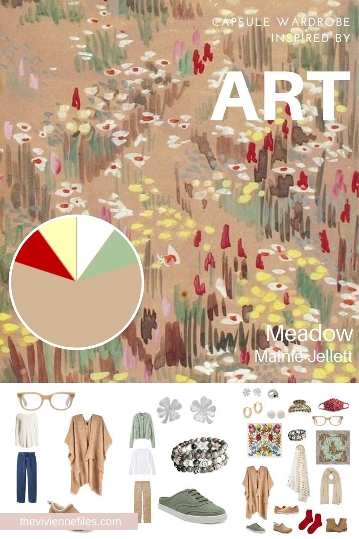 ACESSORIES! ADDING BALANCE AND INTEREST TO START WITH ART: MEADOW BY MAINIE JELLETT